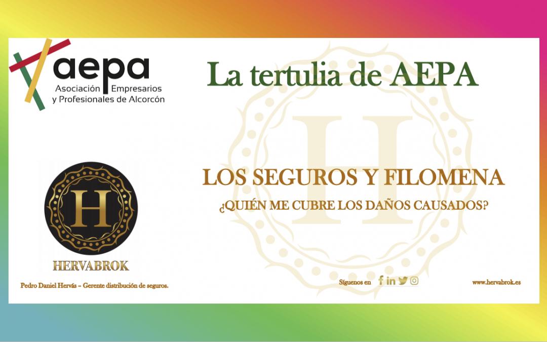 AEPA nos invita a su tertulia mensual. En ella hablaremos de Los seguros y Filomena. ¿Quién cubre los daños ocasionados?